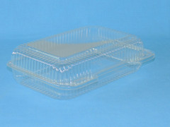 "LBH-663 Medium Size Hinged Container  (350/Case) Size: 9 3/8"" x 6 3/4"" x 2 5/8"""