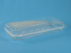 "LBH-691 Danish Container, Holds 5 1/4"" x 12 1/4"" pan (250/Case) Size: 13 3/8"" x 6 3/4"" x 2 5/8"""