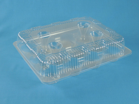 LBH-9222 Clear Hinged Container for 12 Count Cupcakes