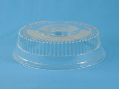 "DCS-970 12"" Round Snap On Catering Dome with Release Tab, 3 1/2"" Tall  (25/Case)"