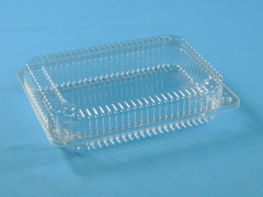 "LBH-615 Shallow Hinged Container  (350/Case) Size: 9"" x 6 1/2"" x 2"""
