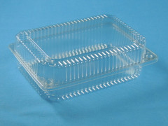 "LBH-617 Deep Medium Sized Hinged Container (350/Case) Size: 9"" x 6 1/2"" x 2 3/4"""