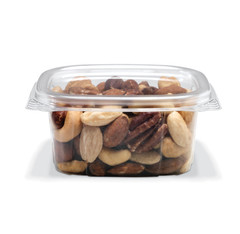 CS06 Placon Crystal Seal 6 oz. Clear Hinged Container (400/case)L 4.22 x W 3.82 x H 1.89