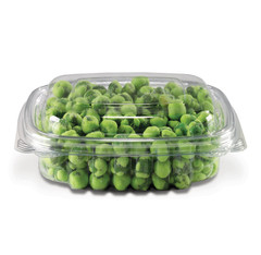 CS08DL Placon Crystal Seal 8 oz. Clear Hinged Container Dome Lid (200/case)L 5.5 x W 5 x H 1.8