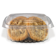 CS32DL Placon Crystal Seal 32 oz. Clear Hinged Container Dome Lid (200/Case) Size: L 7.25 x W 6.31 x H 2.76