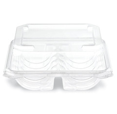 DM1-02-02 Placon Crystal Seal Dimensions 10 ct Cookie Tray - High Dome Lid (200/Case)