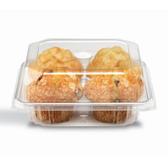 DM1-03-03 Placon Crystal Seal Dimensions 4 Count Muffin with Perimeter Seal (200/case) L 7.81 x W 7.63 x H 3.22