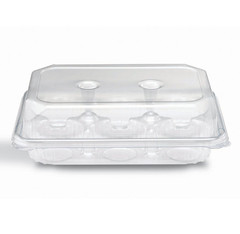DM2-01-01 Placon Crystal Seal Dimensions 6 Count Muffin with Perimeter Seal (200/case) L 10.64 x W 7.63 x H 3.22