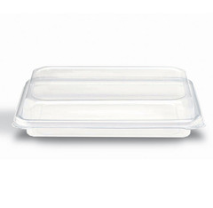 DM2-29-03 Placon Crystal Seal Dimensions Hinged Bakery Container with Perimeter Seal and Low Dome Lid (200/case) L 10.64 x W 7.63 x H 2.17