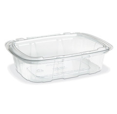 CS2-20T Placon Crystal Seal Tamper-Evident 20 oz. Container (164/Case) Size: L 7.31 x W 5.69 x H 1.77