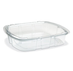 CS3-35T Placon Crystal Seal 35 oz. Tamper-Evident Container (140/Case) Size: L 8.75 x W 7.88 x H 1.77