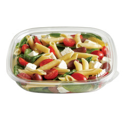 SBM-24C (CLEAR) Placon Fresh n Clear 24 oz. Clear Bowl (Lid sold separately) (300/Case) Size: L 7.5 x W 7.5 x H 1.66