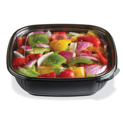 SBM-32B (BLACK) Placon Fresh n Clear 32 oz. Black Bowl Medium (Lid sold separately) (300/Case) Size: L 7.5 x W 7.5 x H 2.19