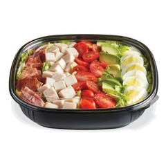 SBL-48B (BLACK) Placon Fresh n Clear 48 oz. Black Bowl (Lid sold separately)(150/Case) Size: L 9 x W 9 x H 2.22