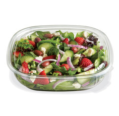 SBL-48C (CLEAR) Placon Fresh n Clear 48 oz. Clear Bowl (Lid sold separately) (150/Case) Size: L 9 x W 9 x H 2.22