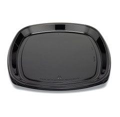 "ST18T Placon Fresh n Clear Catering 18"" Black Tray/Platter (50/Case)"
