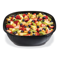 SB2X-160B (BLACK) Placon Fresh n Clear Catering 160 oz. Black Bowl (50/Case) Size: L 12 x W 12 x H 3.90