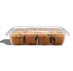 FC1-32 Placon Fresh n Clear Trays and Lids 32 oz. Clear Tray (Lid sold separately) (360/Case)