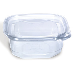 EV1-08 Placon Evolutions 8 oz. Clear, Square Deli Base (400/Case) Size: L 4.75 x W 4.75 x H 1.72