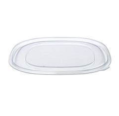 "ST12FL Placon Fresh n Clear Catering 12"" Clear Flat Lid (50/Case)"