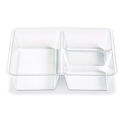 CC1-T1 CLEAR Placon Fresh n Clear GoCubes Clear Insert Tray (600/Case) Size: L 5.12 x W 5.12 x H 1.0