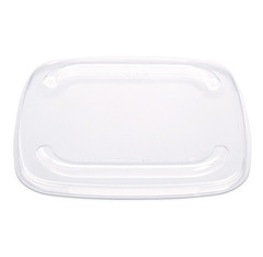 "FS2-L1 Placon Fresh n Clear Selectables 7.5"" Flat Clear Overcap Lid"