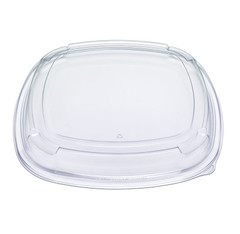 "ST16LL Placon Fresh n Clear Catering 16"" Clear LOW Dome Lid  50/Case"