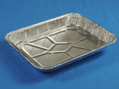 D&W 16240 1/2 Steam Tray Foil Shallow (Lid sold separately)  100/Case
