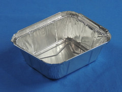D&W 15372 Rectangular Crimp-on Foil Tray (Lid sold separately) (1000/Case) Size: 5.56 x 4.56
