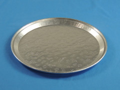 "D&W A01 12"" Embossed Flat Tray/Platter (Dome sold separately) (50/Case)"