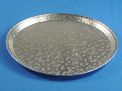 "D&W A03 16"" Embossed Flat Tray/Platter (Dome sold separately) (50/Case)"