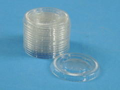 SPCLID450 74mm Clear PET Portion Cup Lid (2500/Case)