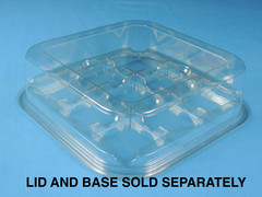 "Tray 8"" x 8"" Bakery Base Square - 9 Count (Lid Sold Separately) (300/Case) L 8.68 x W 8.68 x H 0.69"