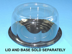 "6"" Cake DOME 3-3/4"" Height - Smooth & Clear Sidewall - (200/Case) 8"" Overall Diameter (Base Sold Separately)"