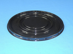 "6"" Cake BASE - Black Snap  Perimeter Seal - (200/Case) 8"" Overall Diameter (Dome Sold Separately)"