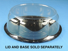 "8"" Cake DOME 3-1/2"" Height - Smooth & Clear Sidewall - (200/Case) 10"" Overall Diameter (Base Sold Separately)"