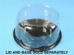 "8"" Cake DOME 5-1/4"" Height - Smooth & Clear Sidewall - (200/Case) 10"" Overall Diameter (Base Sold Separately)"
