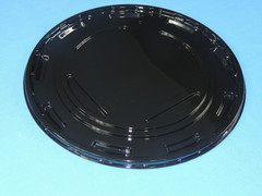 "9"" Cake BASE - Round Black Ring Flat - (150/Case) 10.75"" Overall Diameter (Dome Sold Separately)"