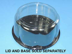 "9"" Cake DOME 5-1/4"" Height - Smooth & Clear Sidewall - (130/Case) 10.75"" Overall Diameter (Base Sold Separately)"