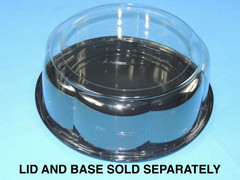 "9"" Cake DOME 4"" Height - Smooth & Clear Sidewall - (150/Case) 10.75"" Overall Diameter (Base Sold Separately)"