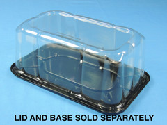 "Bar Cake DOME 4-1/2"" Height - Smooth & Clear Sidewall - (200/Case) (Base Sold Separately)"