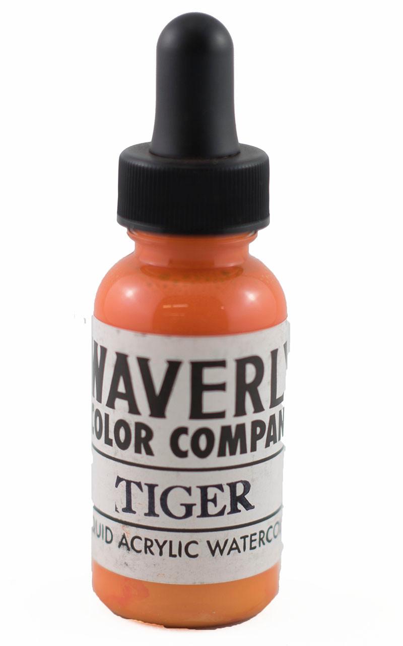 Waverly Liquid Acrylic Watercolor - Tiger - Good Guy Tattoo Supply