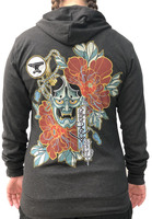 Hannya Mask Hoodies- Unisex Grey