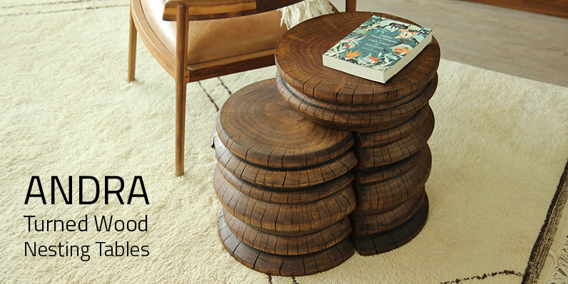 Andra Turned Wood Nesting Tables