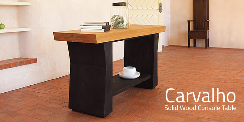 Carvalho Solid Wood Console Table