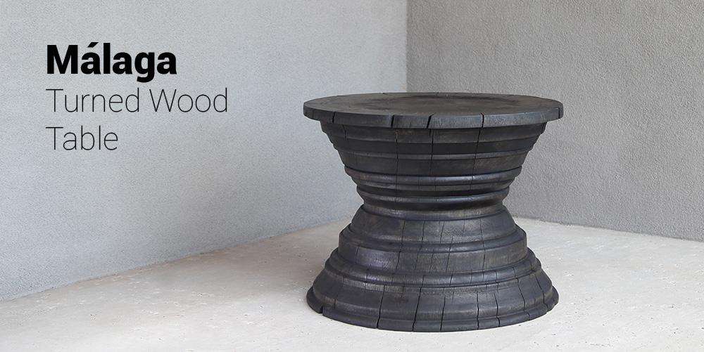 Málaga Turned Wood Table