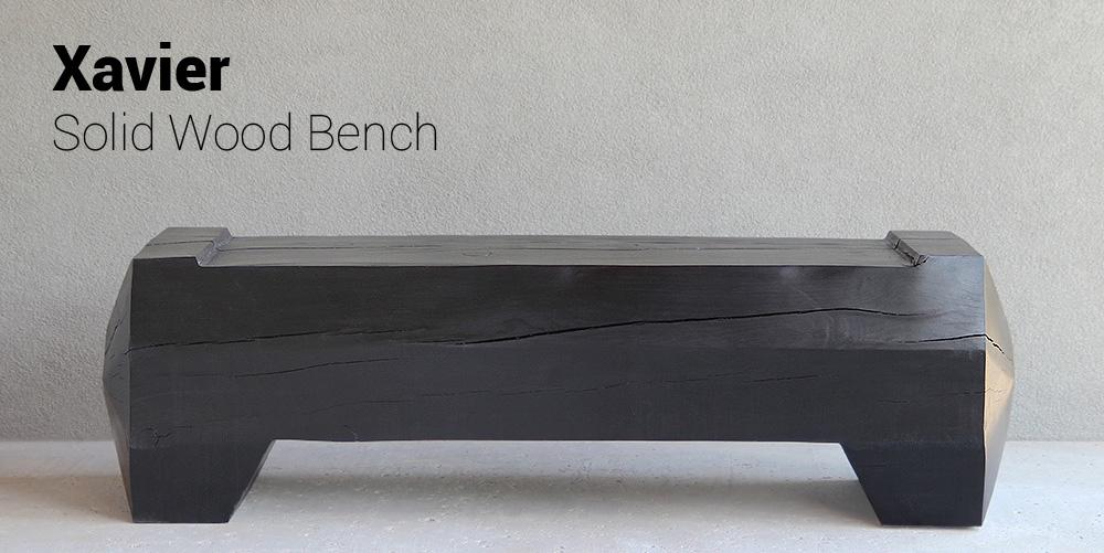 Xavier Solid Wood Bench