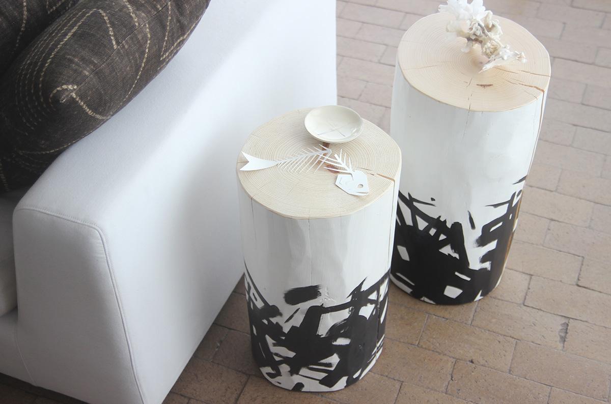 Katakana Painted Logs