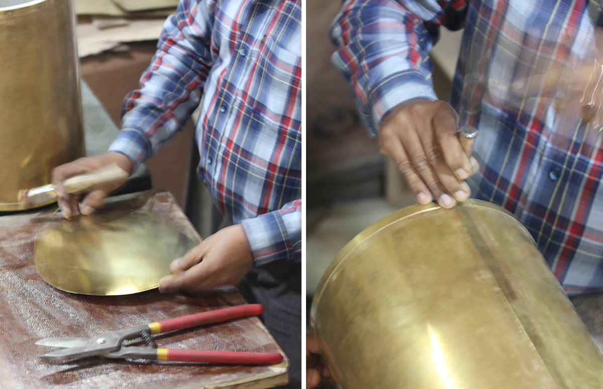 Making a Brass Waste Bin