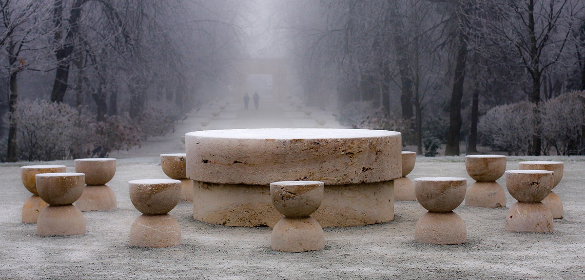 Constantin Brancusi - The Table of Silence - Targu-Jiu, Romania- 1938